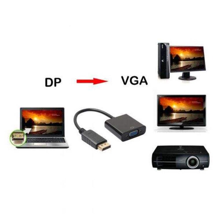 تبدیل Display port به VGA مدل D-1