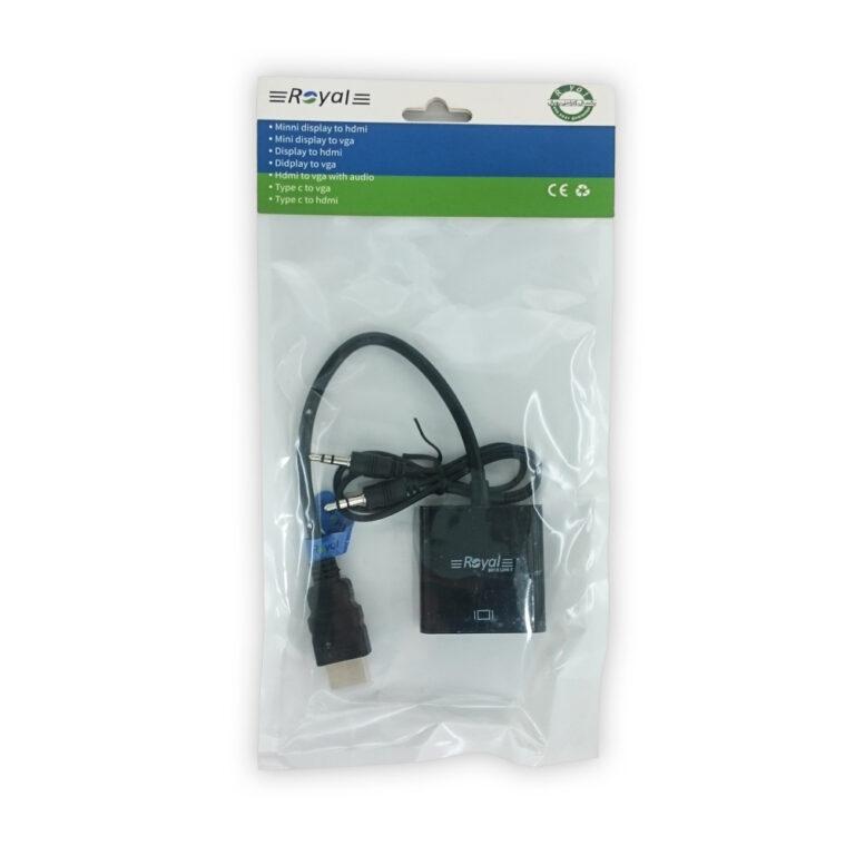 تبدیل HDMI به VGA رویال به همراه کابل صدا