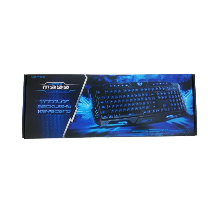 کیبورد گیمینگ Wired M200 Three Color Backlighting Game Keyboard