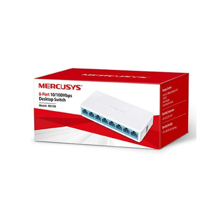 سوییچ شبکه 8 پورت MERCUSYS مدل MS108