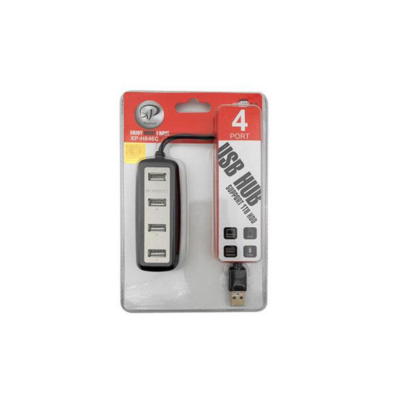 هاب ۴ پورت USB 2.0 ایکس پی پروداکت مدل XP-H846C
